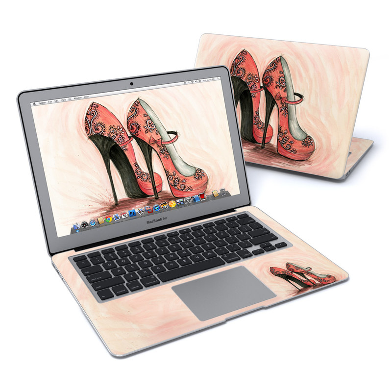 Coral Shoes MacBook Air 13-inch Skin