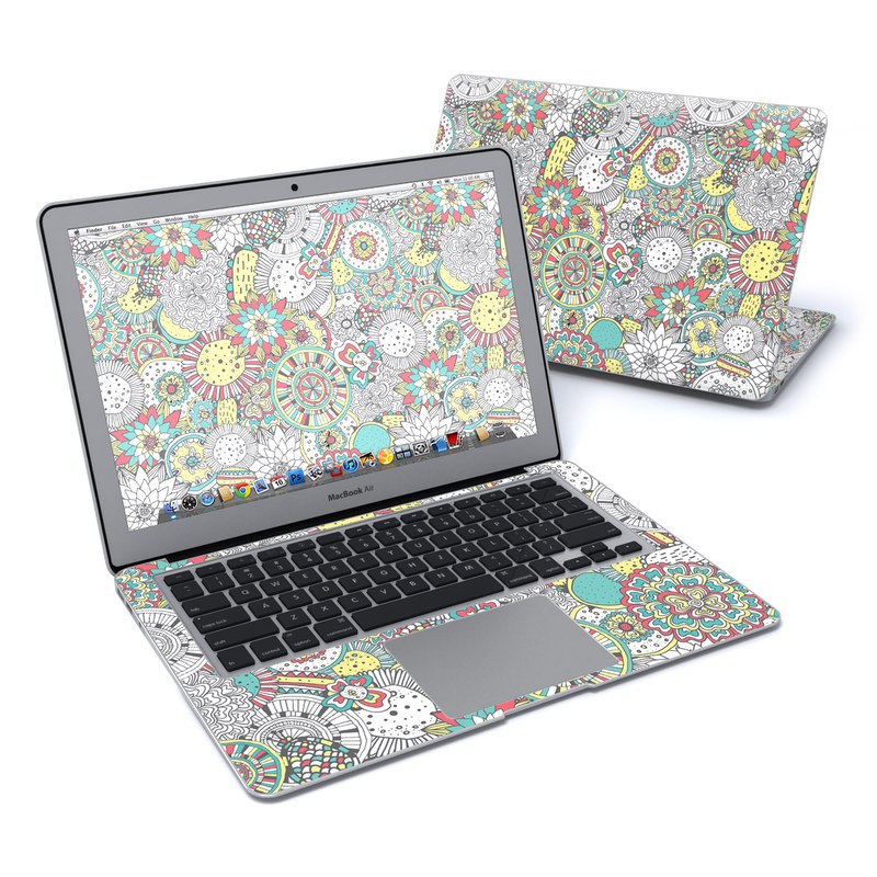 Faded Floral MacBook Air 13-inch Skin