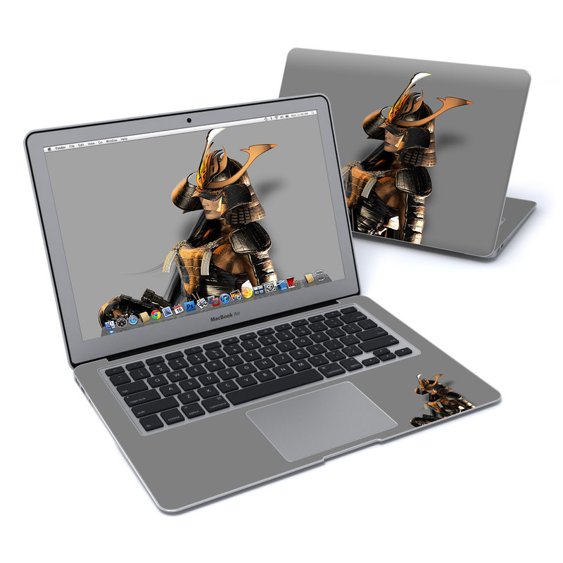 MacBook Air Pre 2018 13-inch Skin design of Cg artwork, Fictional character, Action figure with black, yellow, gray, white colors