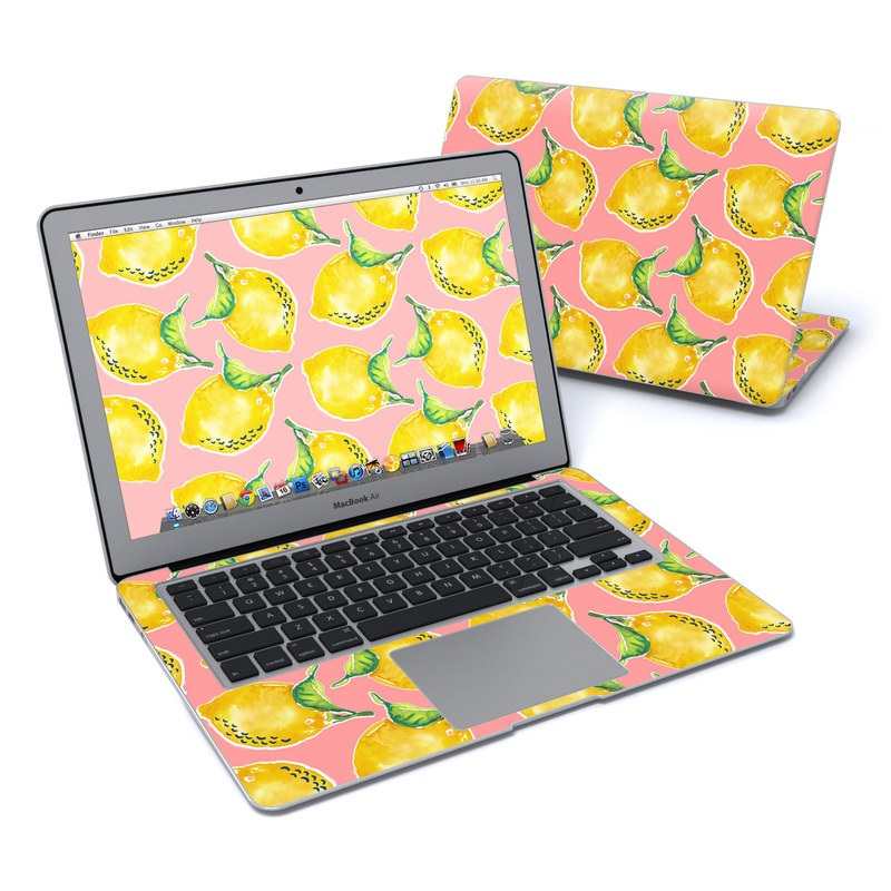 MacBook Air Pre 2018 13-inch Skin design of Yellow, Plant with yellow, green, pink colors