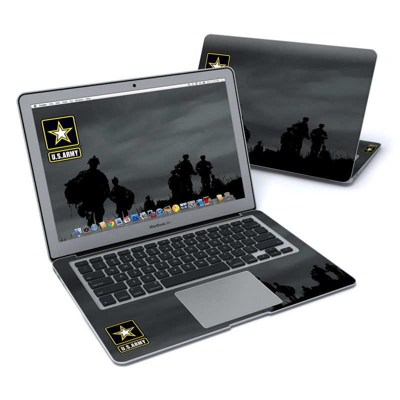 MacBook Air Pre 2018 13-inch Skin design of Soldier, Sky, Photography, Silhouette, Troop, Army, Darkness, Military, Military organization, Screenshot with black colors