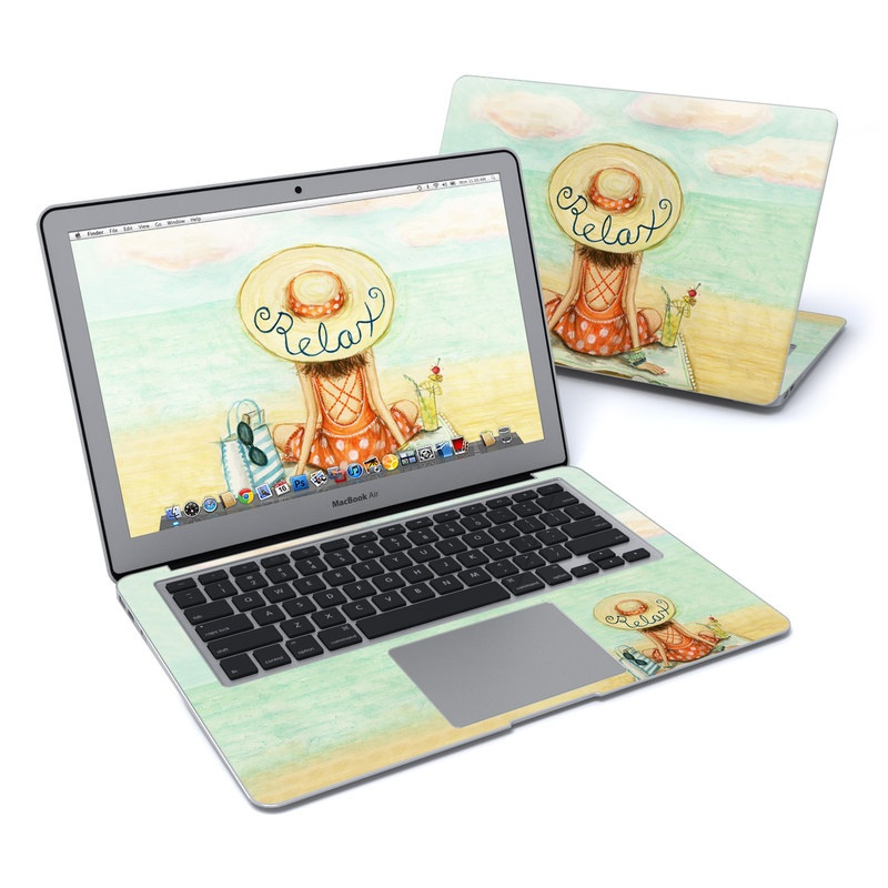 MacBook Air Pre 2018 13-inch Skin design of Illustration, Cartoon, Watercolor paint, Art, Drawing, Child art, Sketch, Paint, Still life with white, yellow, blue, red, black, yellow colors