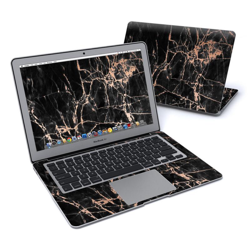 MacBook Air Pre 2018 13-inch Skin design of Branch, Black, Twig, Tree, Brown, Sky, Atmosphere, Plant, Winter, Night with black, pink colors