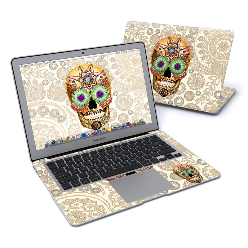 Sugar Skull Bone MacBook Air 13-inch Skin