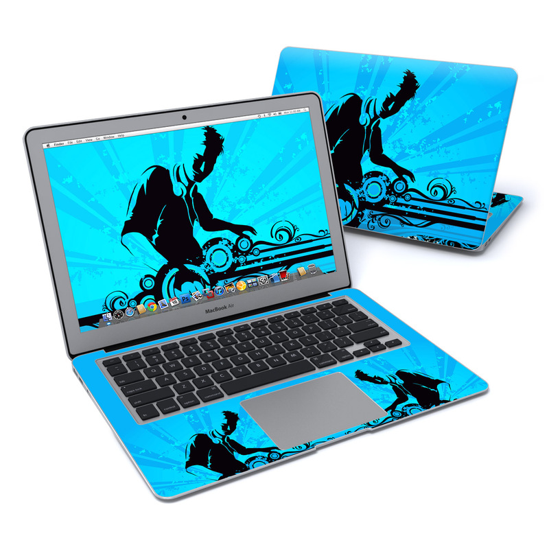 MacBook Air Pre 2018 13-inch Skin design of Graphic design, Illustration, Graphics, Art with blue, black colors