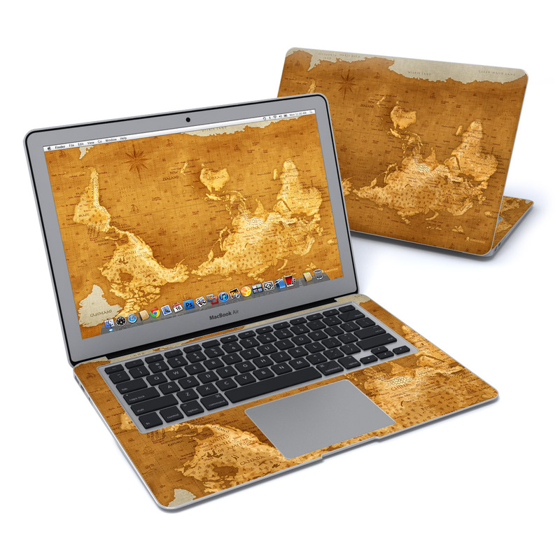 Upside Down Map MacBook Air 13-inch Skin