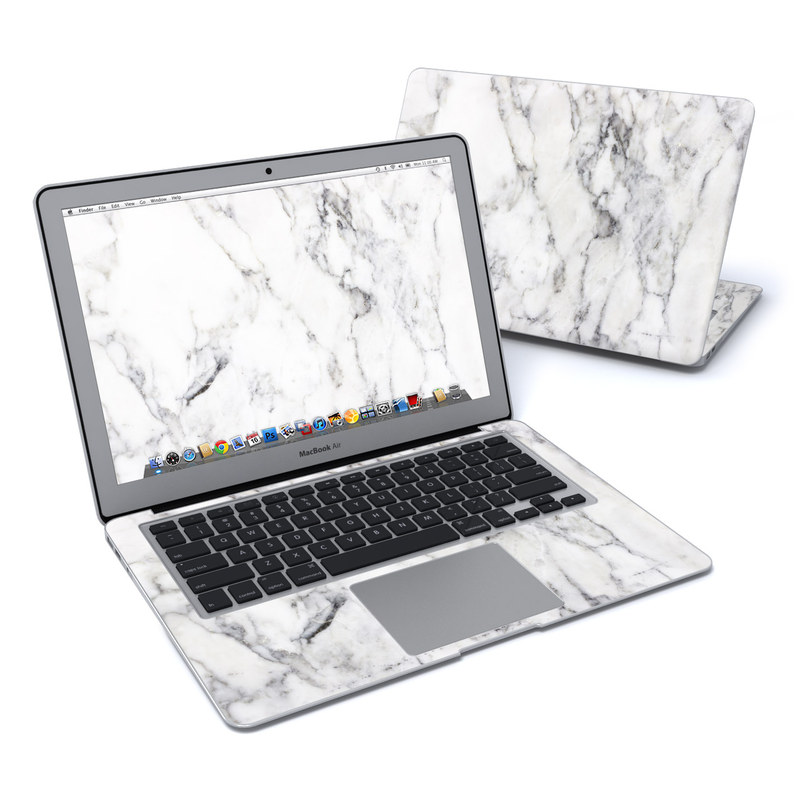 MacBook Air Pre 2018 13-inch Skin design of White, Geological phenomenon, Marble, Black-and-white, Freezing with white, black, gray colors