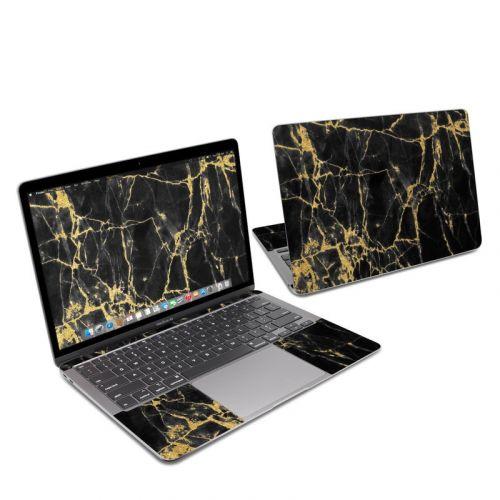 Black Gold Marble MacBook Air 13-inch Skin