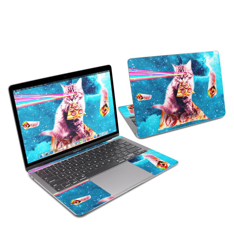 MacBook Air 13-inch Skin design of Illustration, Organism, Graphic design, Art, Space, Fictional character, Extreme sport, Graphics with blue, white, gray, yellow, red, orange colors