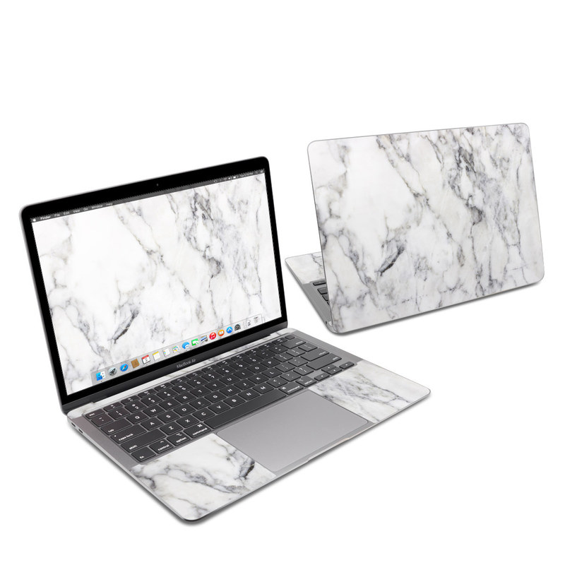 MacBook Air 13-inch Skin design of White, Geological phenomenon, Marble, Black-and-white, Freezing with white, black, gray colors