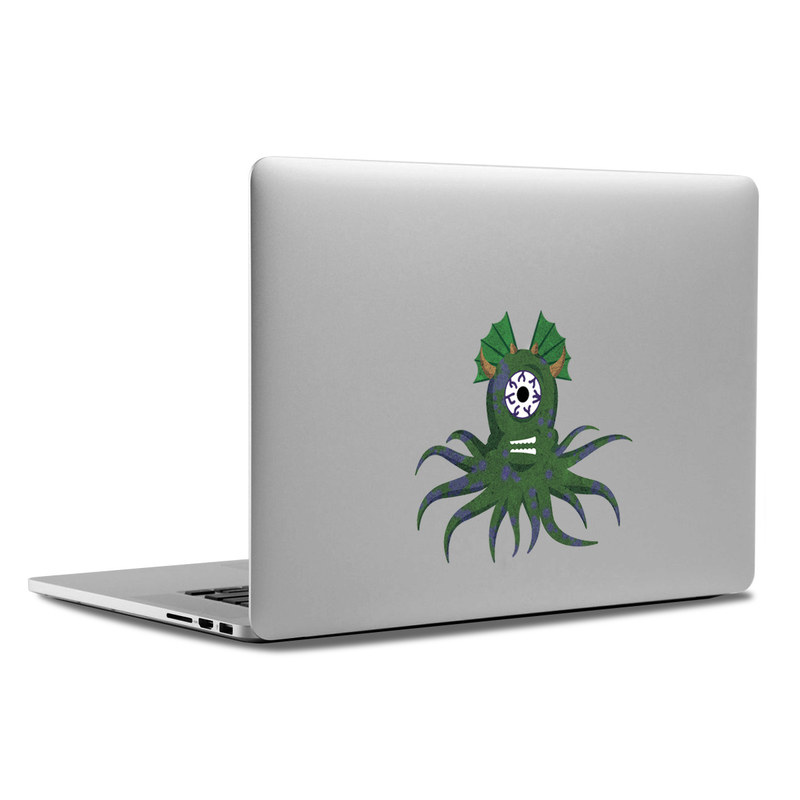 Squid Monster MacBook Backlit Logo Skin