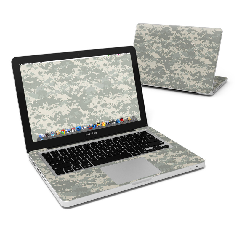 MacBook Pro Pre 2012 13-inch Skin design of Military camouflage, Green, Pattern, Uniform, Camouflage, Design, Wallpaper with gray, green colors
