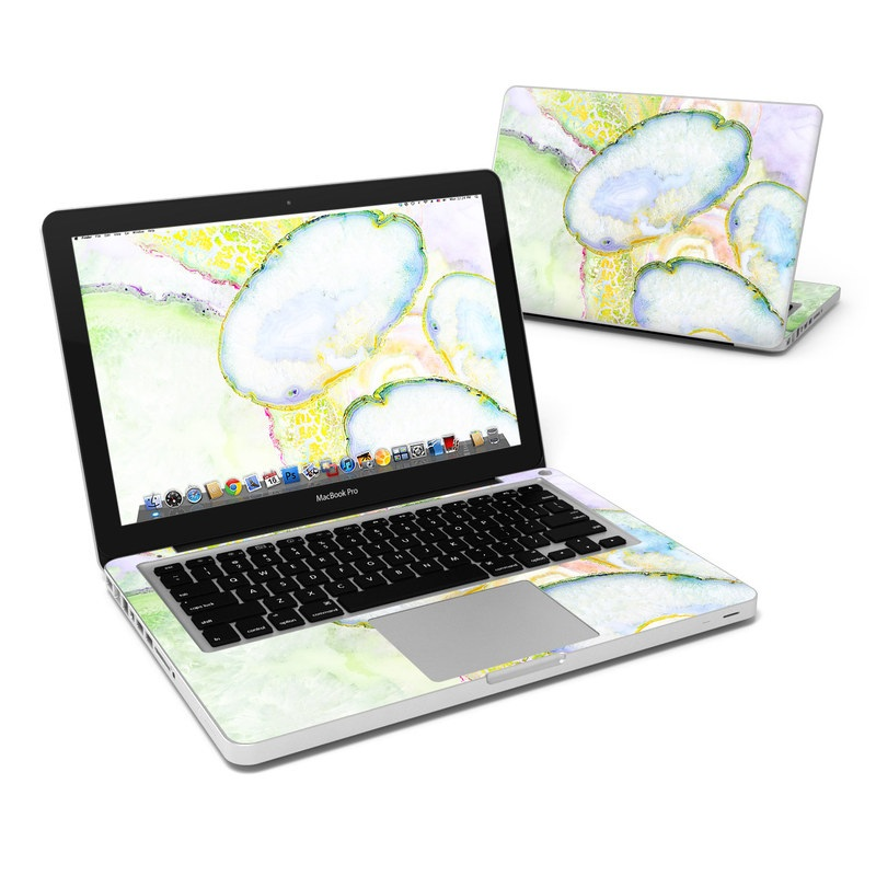 MacBook Pro Pre 2012 13-inch Skin design of Watercolor paint, Illustration, Paint, Child art, Art with blue, purple, green, yellow, pink colors