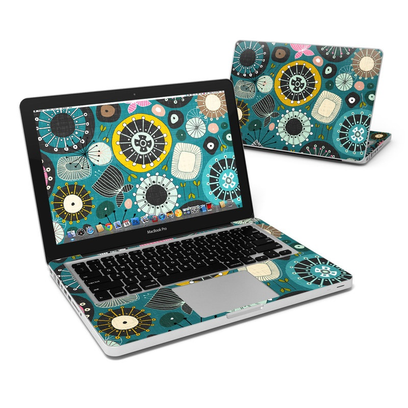 Blooms Teal MacBook Pro 13-inch Skin