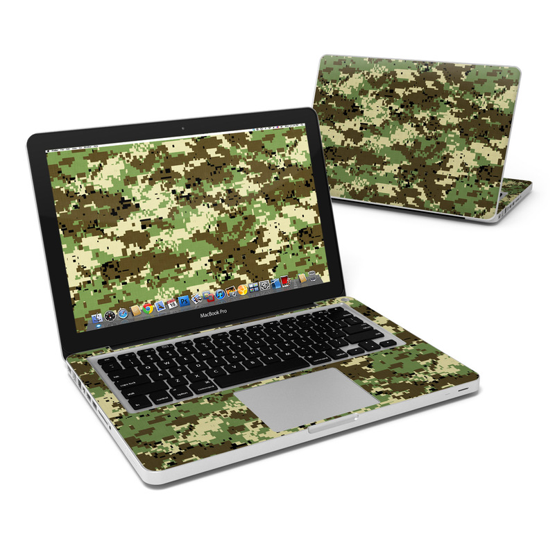 MacBook Pro Pre 2012 13-inch Skin design of Military camouflage, Pattern, Camouflage, Green, Uniform, Clothing, Design, Military uniform with black, gray, green colors