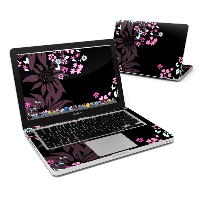 Dark Flowers MacBook Pro 13-inch Skin