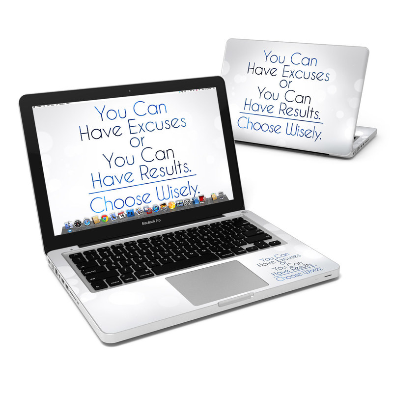 Excuses or Results MacBook Pro Pre 2012 13-inch Skin