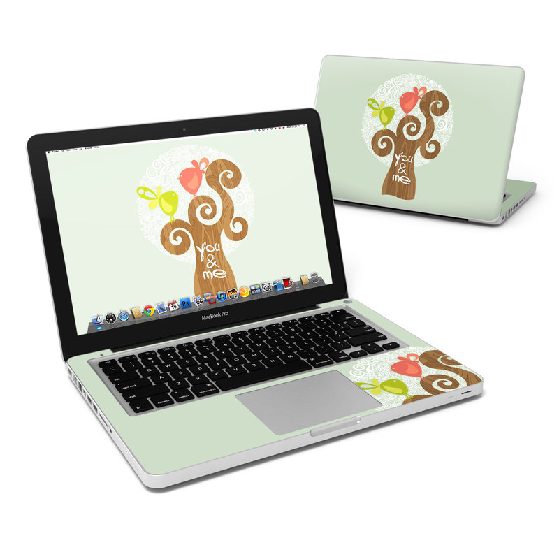 MacBook Pro Pre 2012 13-inch Skin design of Illustration, Art, Heart, Tree, Font, Graphic design, Plant, Drawing with gray, red, green, white colors