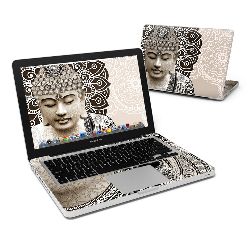 MacBook Pro Pre 2012 13-inch Skin design of Head, Illustration, Art, Visual arts, Design, Pattern, Stock photography, Drawing, Black-and-white, Tradition with gray, black, green, red colors