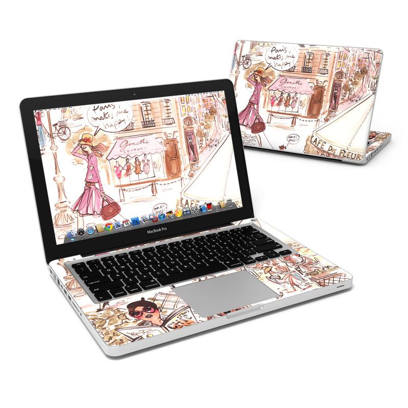 Paris Makes Me Happy MacBook Pro 13-inch Skin