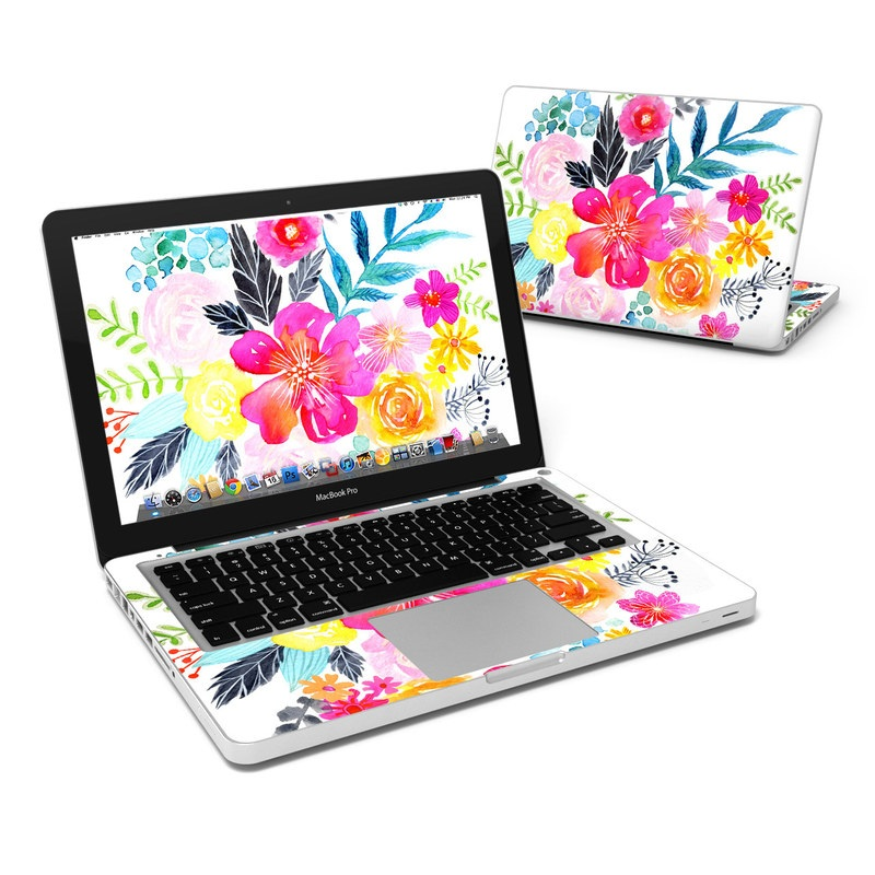 Pink Bouquet MacBook Pro Pre 2012 13-inch Skin