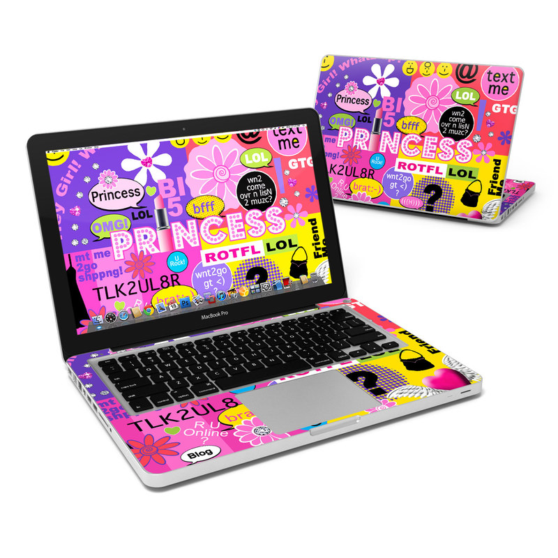 Princess Text Me MacBook Pro 13-inch Skin