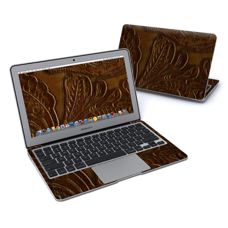 Saddle leather MacBook Pro 13-inch Skin