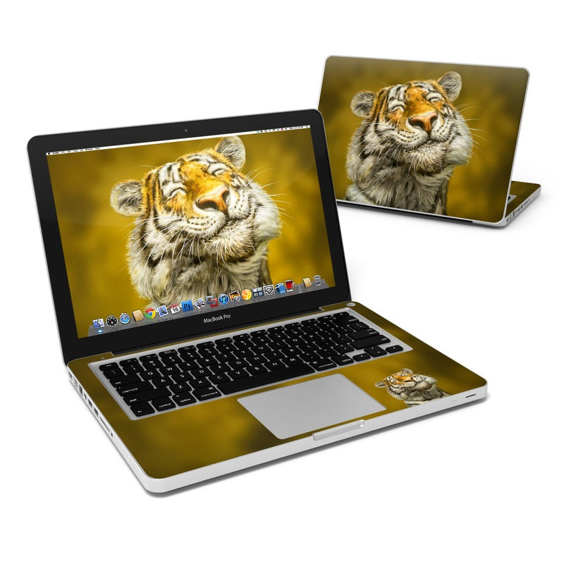 MacBook Pro Pre 2012 13-inch Skin design of Tiger, Vertebrate, Bengal tiger, Mammal, Wildlife, Siberian tiger, Terrestrial animal, Felidae, Snout, Whiskers with black, white, orange, yellow colors