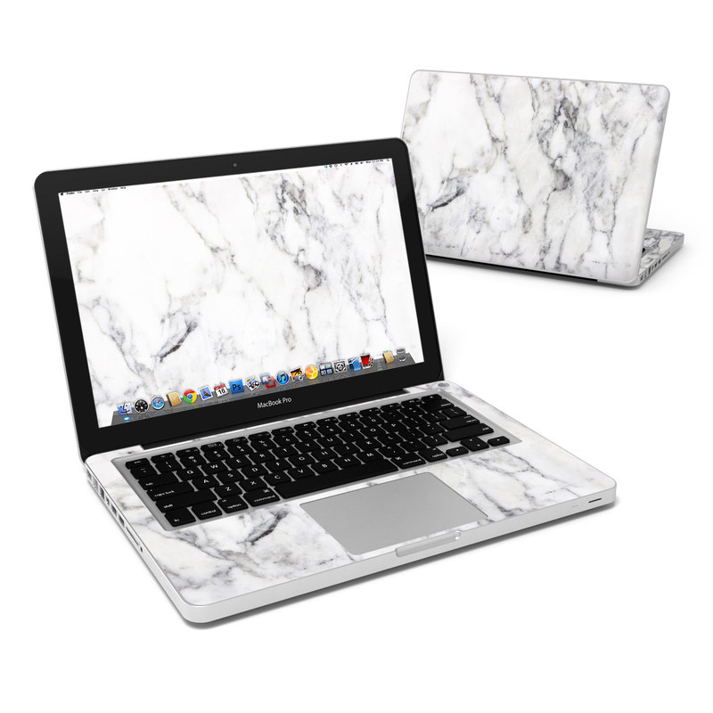 MacBook Pro Pre 2012 13-inch Skin design of White, Geological phenomenon, Marble, Black-and-white, Freezing with white, black, gray colors