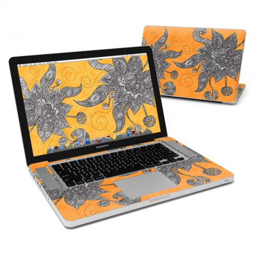 Orange Flowers MacBook Pro Pre 2012 15-inch Skin