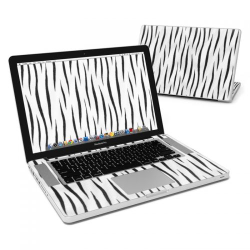 White Tiger Stripes MacBook Pro 15-inch Skin