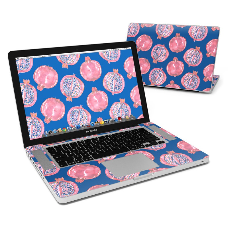 MacBook Pro Pre 2012 15-inch Skin design of Pink, Peach, Red, Pattern, Organism, Design, Font, Illustration, Circle with blue, pink colors