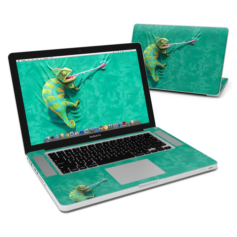 MacBook Pro Pre 2012 15-inch Skin design of Green, Fish, Tail, Chameleon with blue, black, green, gray colors