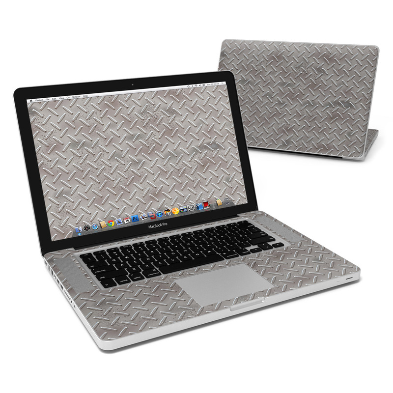 MacBook Pro Pre 2012 15-inch Skin design of Font, Text, Metal, Pattern, Design, Number, Steel with gray colors