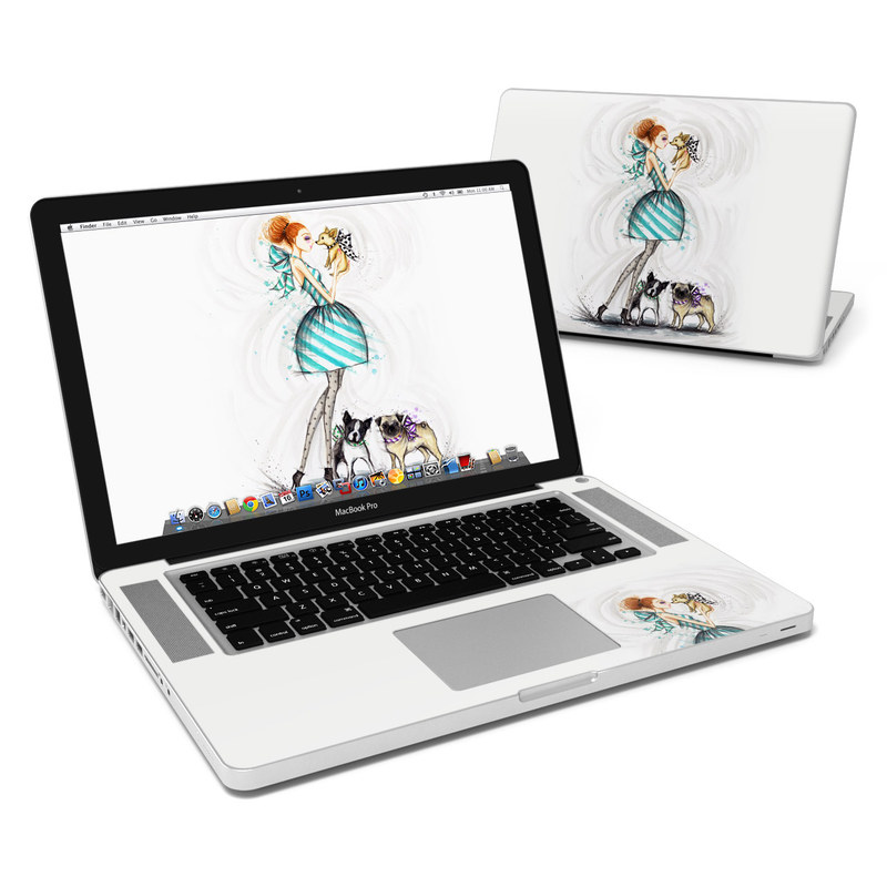 MacBook Pro Pre 2012 15-inch Skin design of Illustration, Cartoon, Drawing, Art, Costume design, Fictional character, Fashion illustration, Sketch with gray, black, white, blue, gray, yellow, brown colors