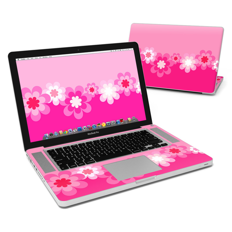 Retro Pink Flowers MacBook Pro Pre 2012 15-inch Skin