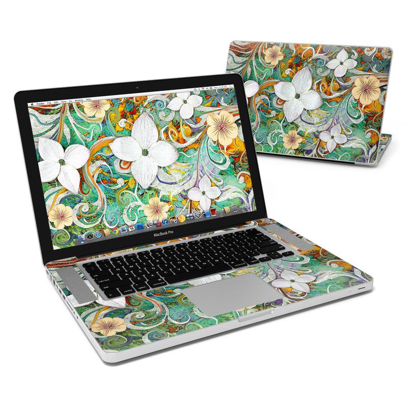 Sangria Flora MacBook Pro 15-inch Skin