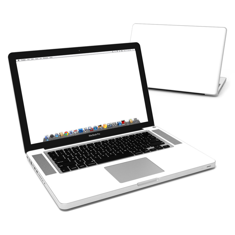 MacBook Pro Pre 2012 15-inch Skin design of White, Black, Line with white colors