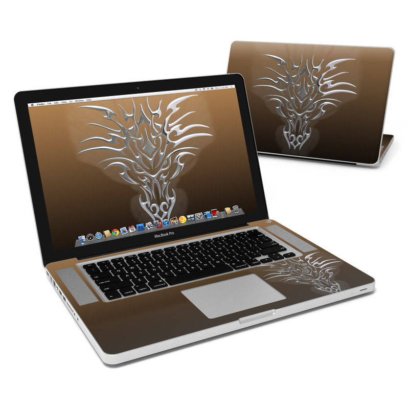 Tribal Dragon Chrome MacBook Pro Pre 2012 15-inch Skin