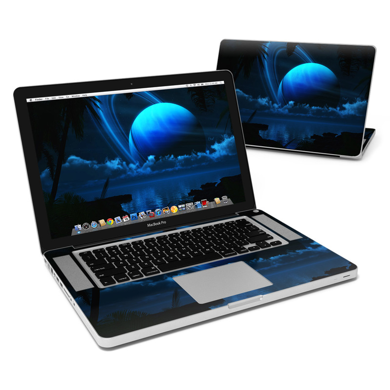 MacBook Pro Pre 2012 15-inch Skin design of Light, Sky, Water, Darkness, Astronomical object, Atmosphere, Night, Moonlight, Midnight, Space with black, blue colors