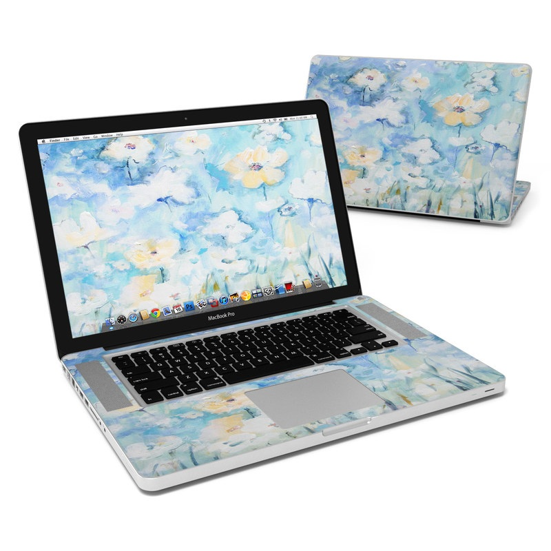 White & Blue MacBook Pro 15-inch Skin