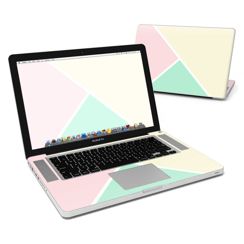 MacBook Pro Pre 2012 15-inch Skin design of Green, Aqua, Turquoise, Blue, Pink, Yellow, Line, Teal, Pattern, Design with yellow, pink, green colors