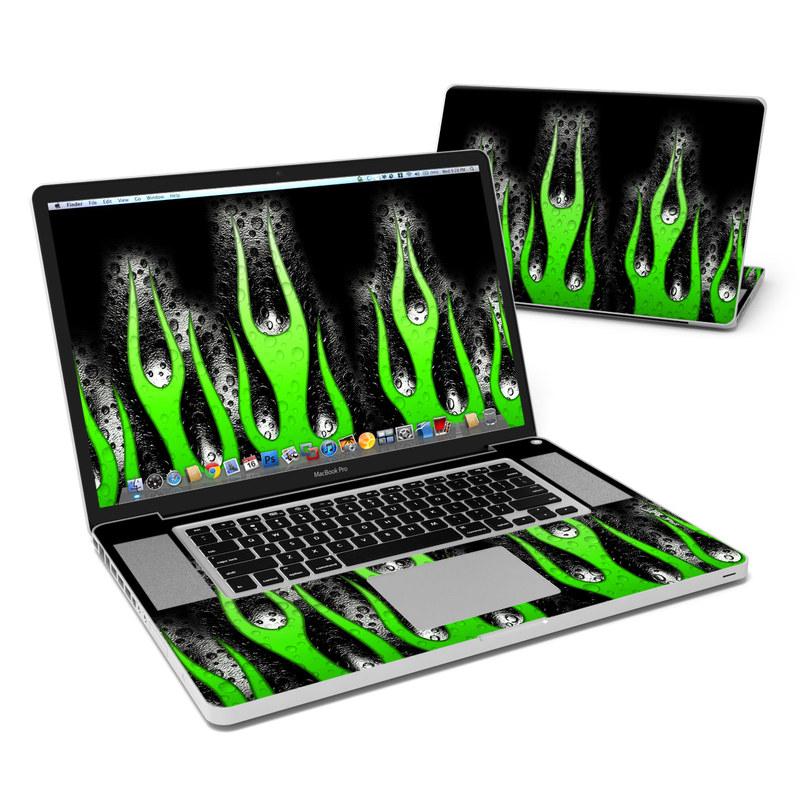 Acid Flames MacBook Pro 17-inch Skin
