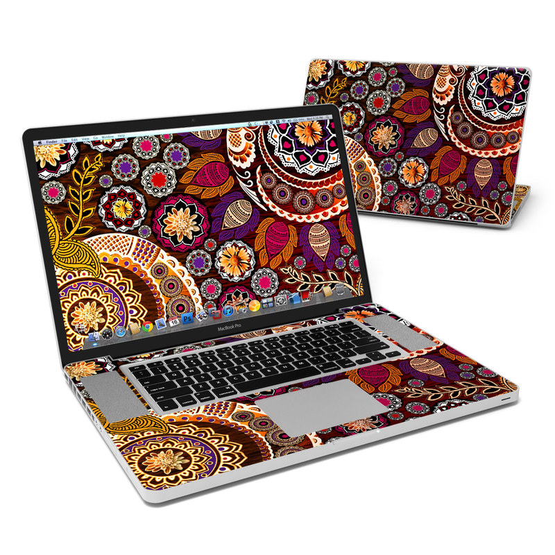 Autumn Mehndi MacBook Pro 17-inch Skin