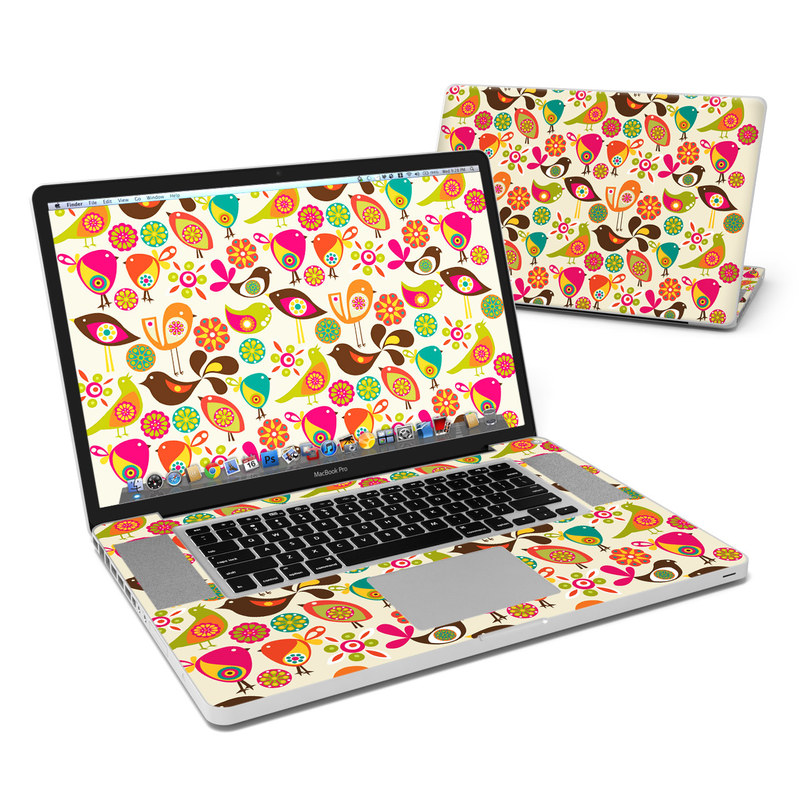 Bird Flowers MacBook Pro Pre 2012 17-inch Skin