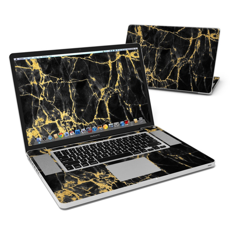 Black Gold Marble MacBook Pro 17-inch Skin