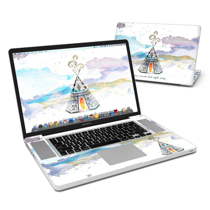 MacBook Pro Pre 2012 17-inch Skin design of Illustration, Art, Graphics, Pole, Drawing with blue, yellow, black, orange, purple colors