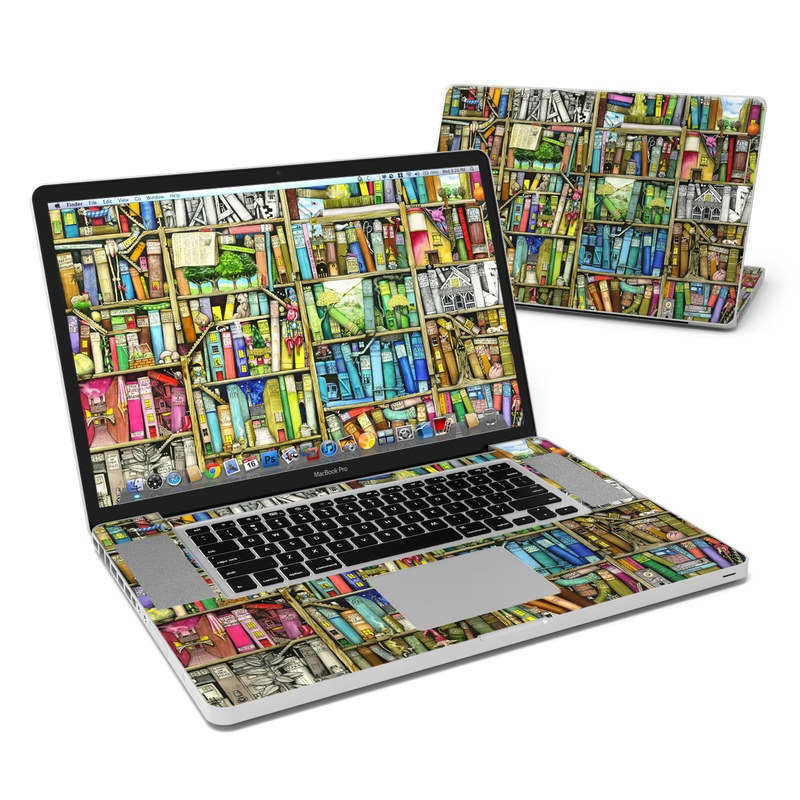 Bookshelf MacBook Pro 17-inch Skin