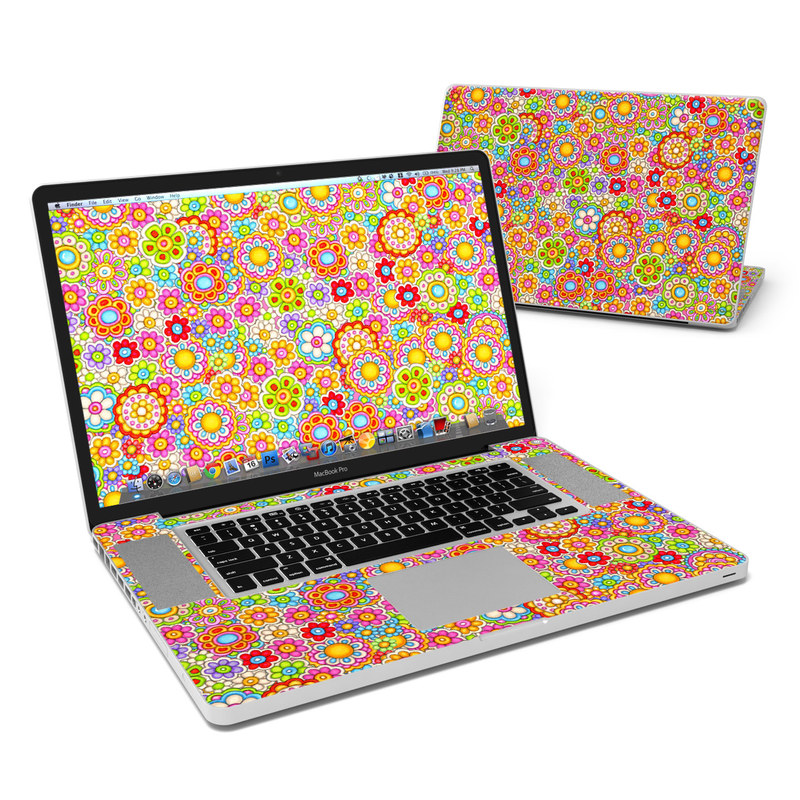 Bright Ditzy MacBook Pro Pre 2012 17-inch Skin