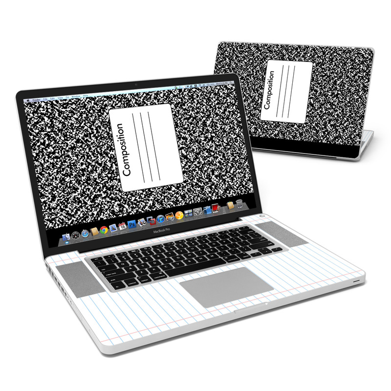 Composition Notebook MacBook Pro 17-inch Skin